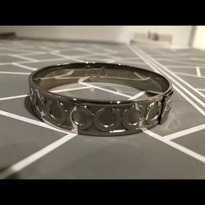 Coach Op Art Signature Bangle Bracelet